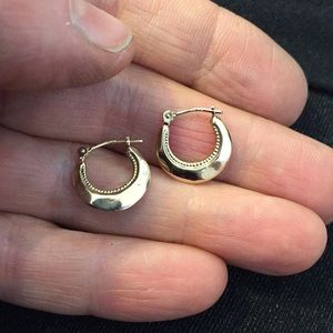 14k hoop earrings